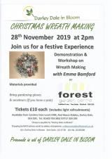 Darley Dale In Bloom Fundraising Christmas Wreath Making